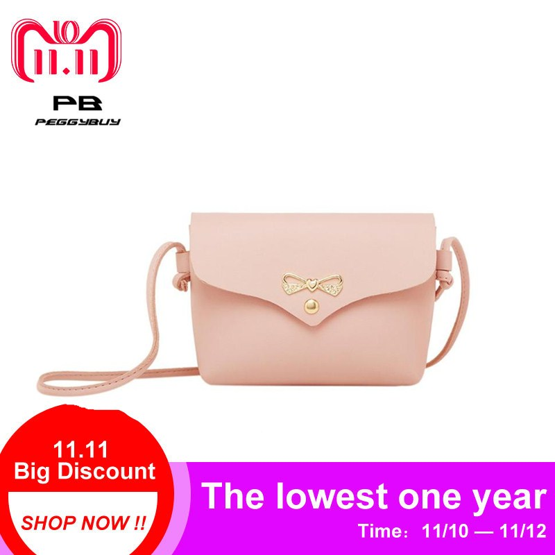 Girls Solid PU Leather Shoulder Handbags Women Casual Pure Color Mini Messenger Crossbody Bag Lady Simple Small Flap Pouch Totes fashion small women messenger bag pu leather handbags mini shoulder crossbody bag casual girls clutches purses cell phone pouch