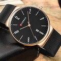 CURREN Top Brand Luxury Men's Watches Men Leather Wrist Quartz Watch Military Army Casual Clocks Male Men Sport Full Steel Clock