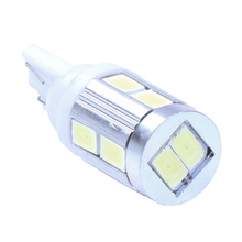 T10 194 168 W5W LAMP BULB 10 SMD LEDs 12-24V WHITE For CAR