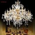 2017 novo e luxuoso grande exportação k9 ouro braços do candelabro de cristal lustre lustres de cristal led lustre de estilo europeu