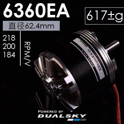 DUALSKY X-motor XM6360EA EA Series Brushless Outrunner Motor 184KV/ 200KV/218KV for RC Airplane