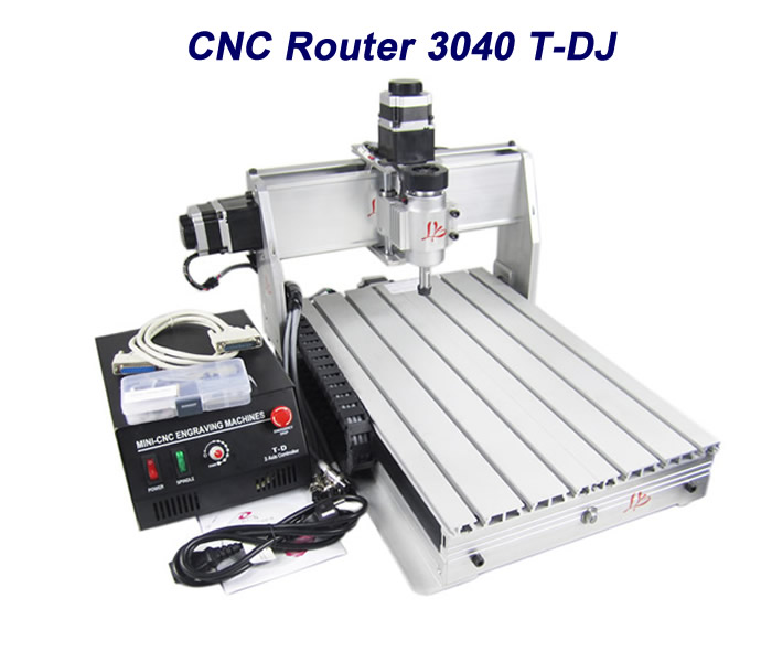 EUR free tax cnc router lathe machine CNC 3040T-DJ , cnc wood milling and driling machine for PCB/Wooden with ball screw cnc 5axis a aixs rotary axis t chuck type for cnc router cnc milling machine best quality