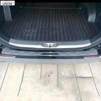 For toyota RAV4 2019 5thCar Rearguards Stainless Steel Rear Bumper Trunk Fender Sill Plate Protector Guard Covers trim