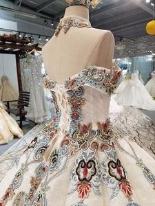 Image 5 - 2018 새로운 패턴 신부 한 단어 어깨 한국어 자기 재배 얇은 간결한 긴 꼬리 색 웨딩 드레스 전체 드레스 2411