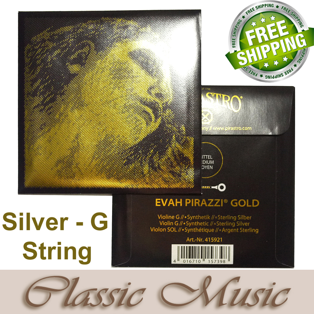 Pirastro Made in Germany,Evah Pirazzi Gold Violin String,Only Sliver G string(415921) , With Free shipping , original pirastro evah pirazzi gold violin strings full set gold g for 4 4 made in germany free shipping