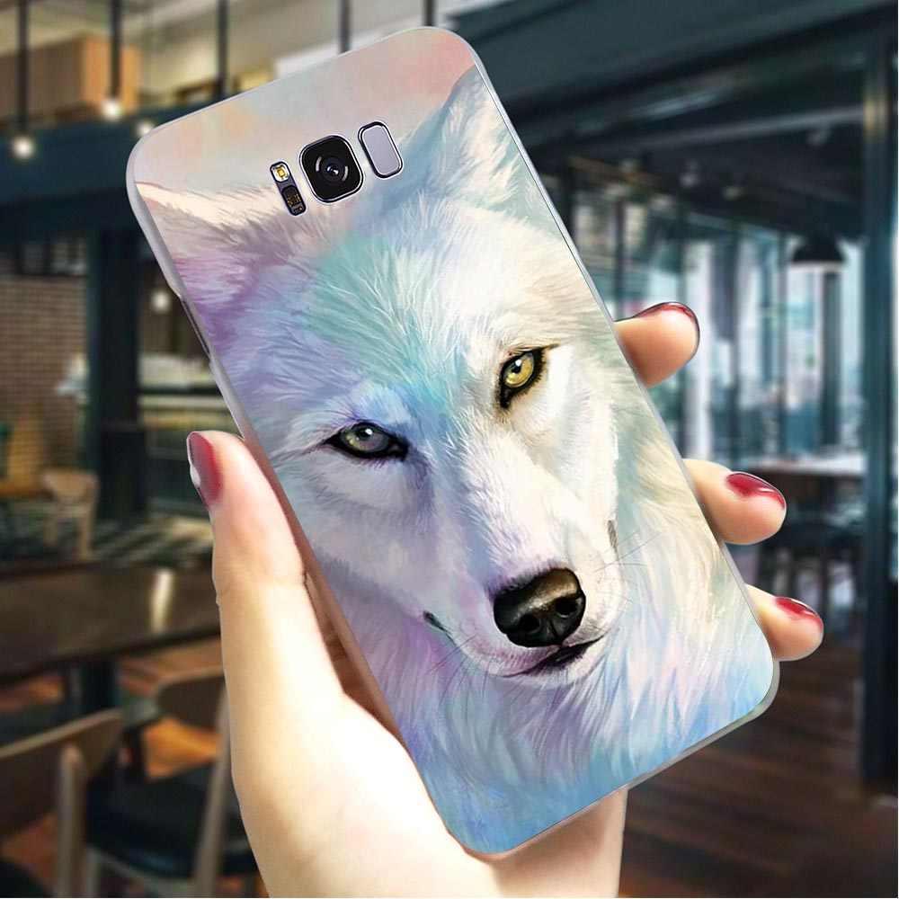 الذئب الكلب القط غطاء صلب لسامسونج غالاكسي A3 2016 طباعة الهاتف حقيبة لهاتف سامسونج غالاكسي A30 A40 A50 A70 A3 عودة شل