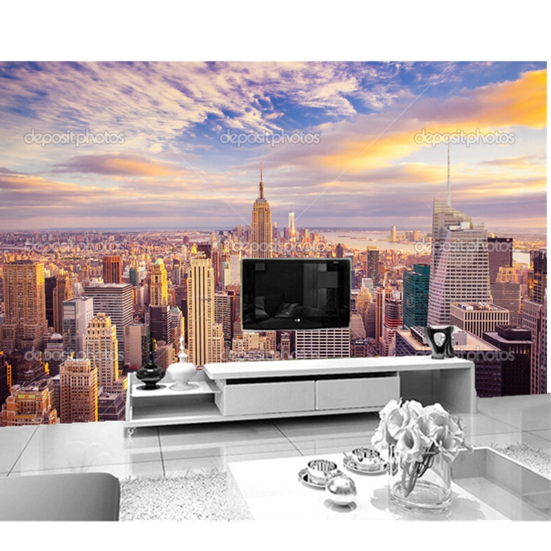 Aliexpress.com : Buy Custom Photo Wallpaper,New York City Sunshine  Skyline.3D Murals For Living Room Bedroom TV Wall Waterproof Vinyl Papel De  Parede From ... Part 93