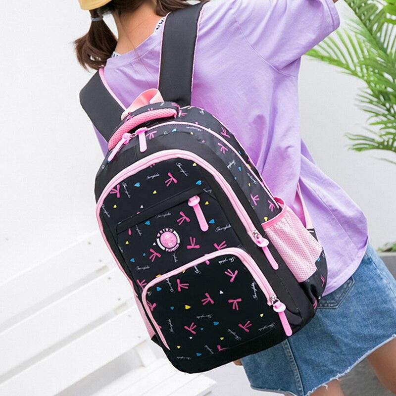 Waterproof Kids Printing Backpacks Set Kids mochila infantil  Schoolbag Girls Children School Bags Princess School Backpacks(China)
