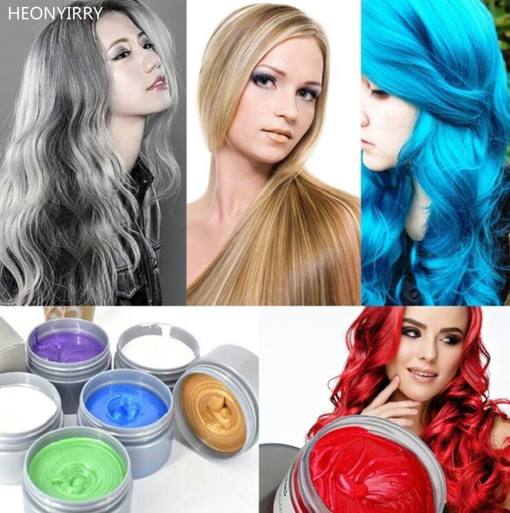 Harajuku Hair Colour Pomades Waxes White Purple Gray Ash Wax Hair