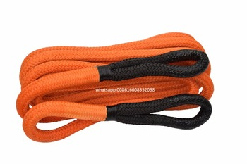 """Orange 1""""*20ft mm Kinetic Energy Rope,Kinetic Rope for Offroad, Double Braided Nylon Recovery Rope"""