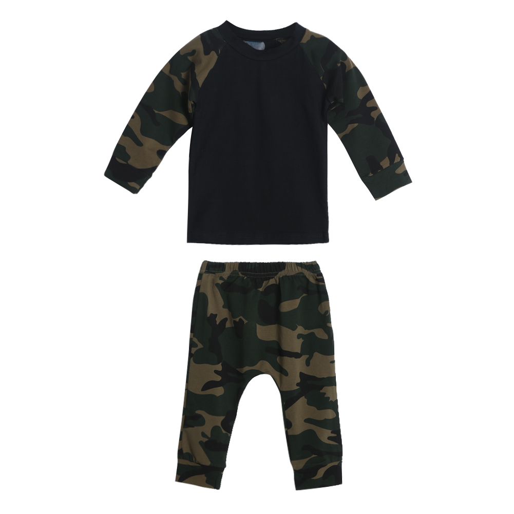 Children Clothing Cute Camouflage Newborn Baby Boys Kids T-shirt Top+Long Pants Outfit Clothe Baby Clothing Sets FCI# camouflage newborn baby boys clothes infant kids casual t shirt tops pants 2pcs outfit children clothing set 0 24m