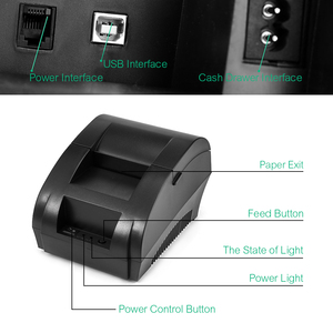 Image 4 - Original ZJ 5890K Mini Printer 58mm POS Thermal Receipt Bill Printer Universal Ticket Printer Support Dot matrix Multi language