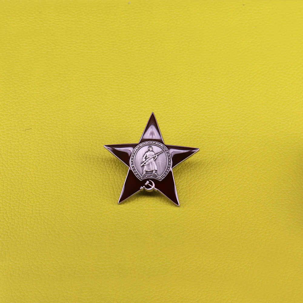 Great Patriotic War Pin Militer Soviet Pesanan Lencana Pro KITTY Merah Bintang Bros Vintage Uni Soviet Komunis Pin Tentara Perhiasan