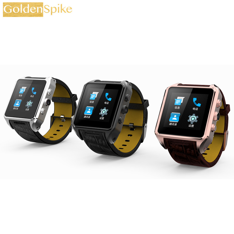GoldenSpike X01 Plus Android 5.1 Bluetooth Smart Watch MTK6572 Support 3G WiFi GPS Single SIM Micro SIM Heart Rate Monitor