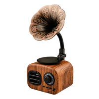 Retro Gramophone Bluetooth Speaker Wireless FM Radio Support FT Cards Long Standby Speakers Good Gift p30
