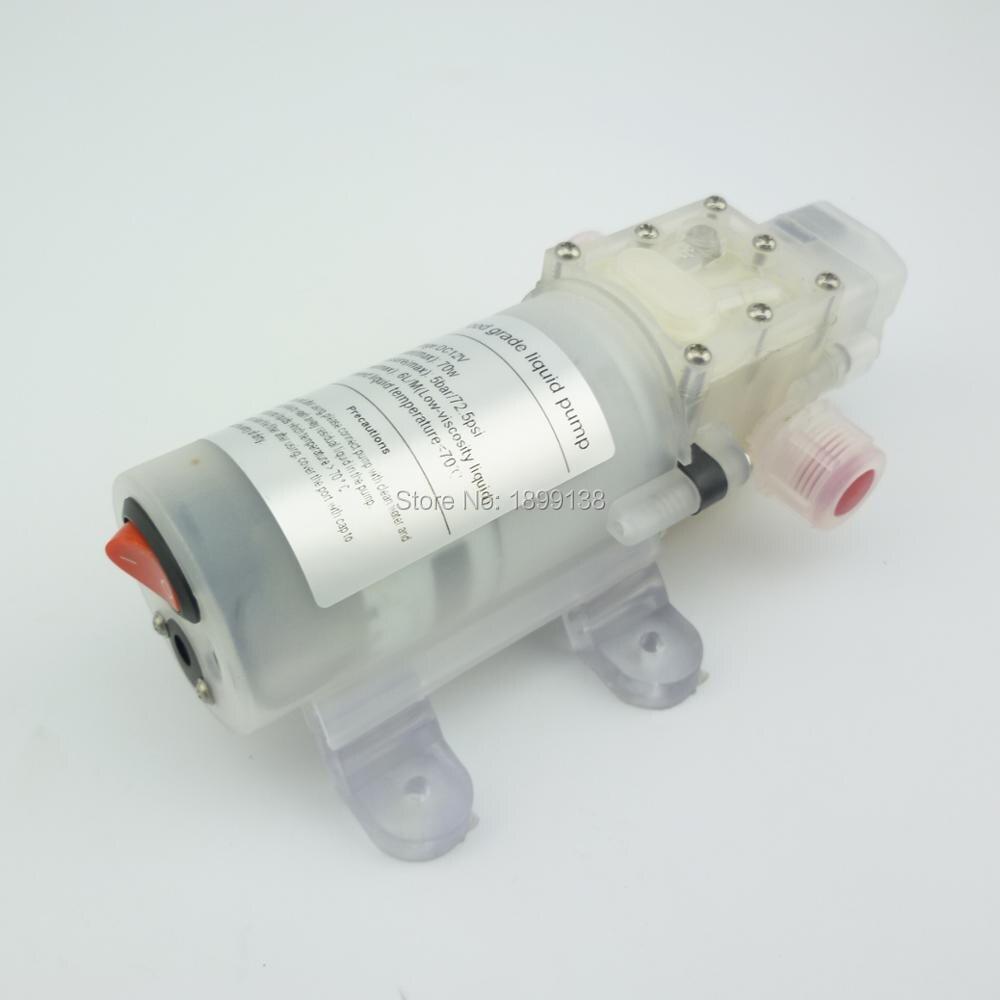 Livraison gratuite 70 W 12 v 24 v dc qualité alimentaire vin lait pompe auto-amorçante pompe automatique contrôle de pression pompe à eau