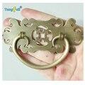 2 PCS estilo chinês do Vintage Bronze cor gabinete Dresser gaveta Thwartwise latão Handle Pull Knob