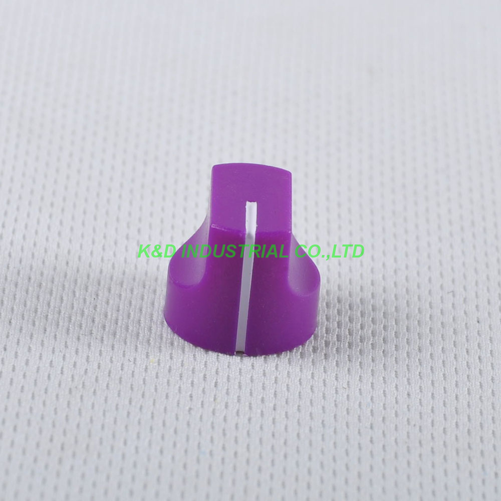 10pcs Colorful Rotary Control Vintage Plastic Purple Knob 16x15mm for Guitar 6 35mm Shaft Amp Parts in Electrical Plug from Consumer Electronics