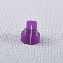 все цены на 10pcs Colorful Rotary Control Vintage Plastic Purple Knob 16x15mm for Guitar 6.35mm Shaft Amp Parts онлайн