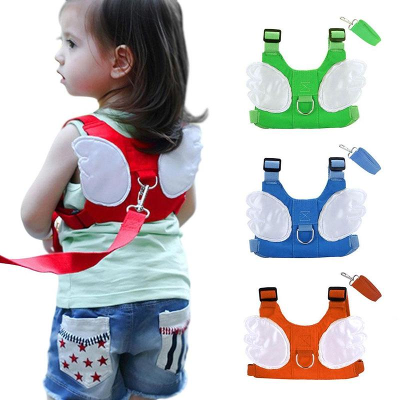 Baby Anti-lost Harness Leash Backpack Cute Angel Design Toddler Walking Assistant Strap Rein Children Cartoon Safety Kids Keeper