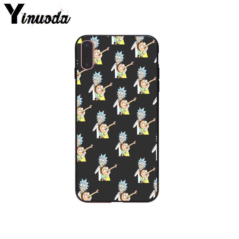Yinuoda Rick And Morty Drop Resistance Smartphone Case for Apple iPhone X XR MAX 8PLUS 7PLUS 7 8 6S 5 SE Case in Half wrapped Cases from Cellphones Telecommunications