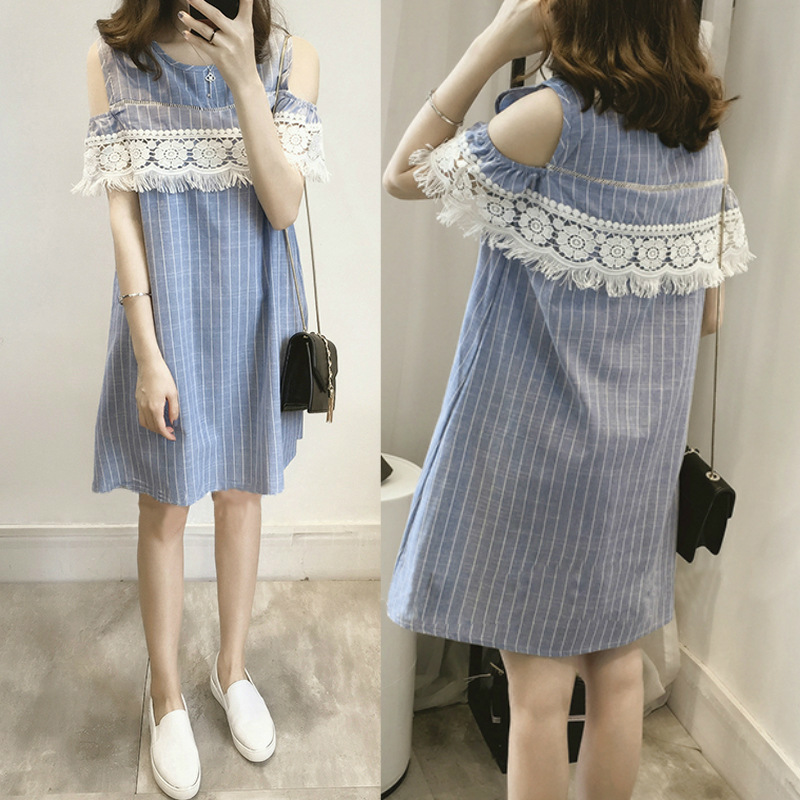 352 2017 Summer Maternity Clothing Wear Breast Cotton Maternity Dresses Clothes For Pregnant Women Pregnant Dress