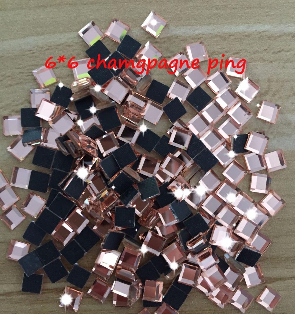 shap rhinestones Hot Sale square 6mm*6mm 4mm*4mm 200pcs/pack Glass Flatback  Crystal Hotfix Rhinestones free shipping-in Rhinestones from Home & Garden  on ...