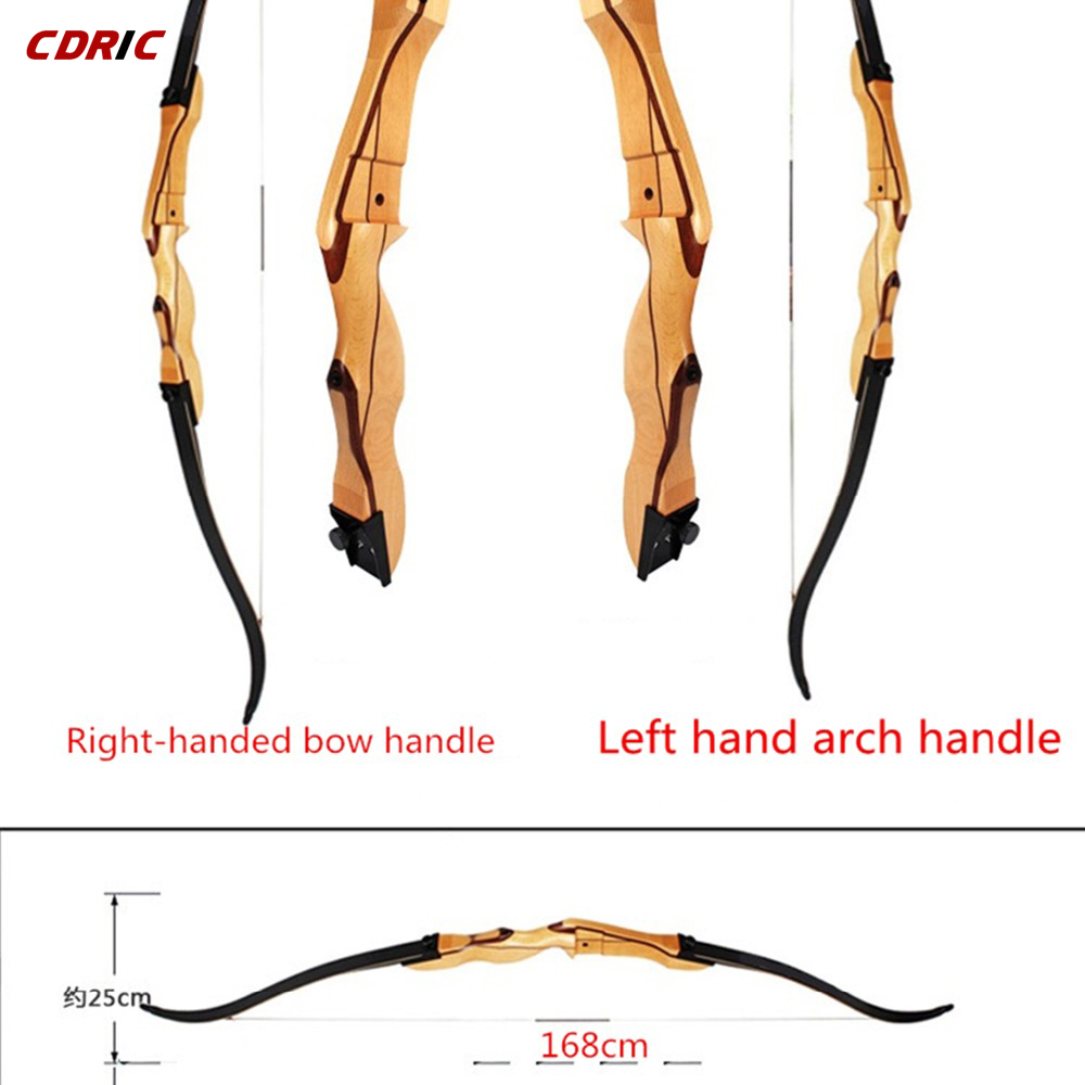 The New 68 Inches Wooden Bow 20-32 Lbs Wooden Long Bow Tradition Bow Recurve Bow for Outdoor Archery Hunting Target Shooting