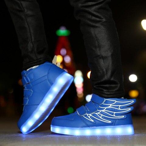 sapatas dos miudos com luzes led criancas sapatilhas com rodas de roller skate glowing led