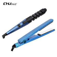 CHJ Professional 2 in 1 Hair Straightener Nano Titanium Plate hair Curler Chapinha Flat Iron Salon Styler