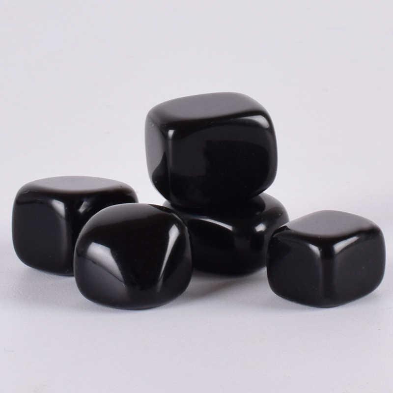 מכובס אבן Obsidian סדיר ליטוש טבעי רוק קוורץ קריסטל פאלם סטון חרוז שבב עבור צ 'אקרה ריפוי אוסף דקור
