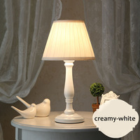 Bedroom Bedside Study Lamp Iron Solid Wood Fabric Table Lamp Nordic American Korean E27 Simple Hotel