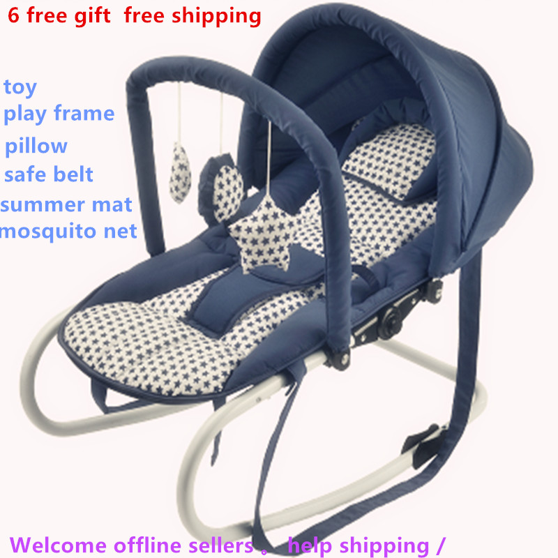 6 gift in1 Baby rocking chair cradle baby soothing chair rocking chair rocking chair sleeping artifact Home v3 VC