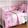 Conjuntos de cama berço 100% algodão incluem quilt bumpers colchão desenhos animados lavável