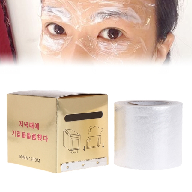 1 Box Microblading Plastic Wrap 50mm*200m Film Tattoo Accessories Eyebrow  Cover