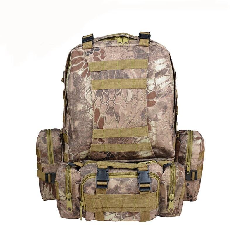 Sac à dos tactique militaire 55L avec 3 sacs à dos MOLLE sac à dos d'assaut de 3 jours sac à bandoulière pour la chasse