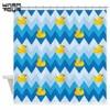 Warm Tour Duck Parade Chevron Pattern Shower Curtain Polyester Fabric Waterproof Mildew Resistant Bathroom Curtain WTC037