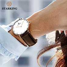 STARKING Famous Brand Luxury Quartz Women Watches Rose Gold