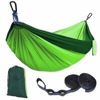 Portable Nylon Parachute Hammock Outdoor Camping Portable Hammock Tied Tree Straps Parachute Outdoor Double Person Hamak
