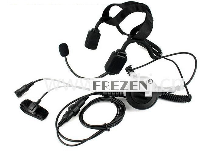 Walkie Talkie Military Bone Conduction Tactical Headset Boom Mic For