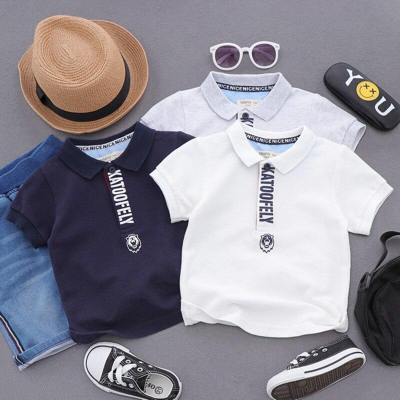 Boys T-Shirts Clothing Tops Short-Sleeve Baby-Boy Kids Fashion Children Summer Letter