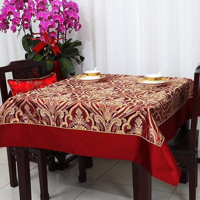 Latest Luxury Jacquard Table Cloth High End European style Modern