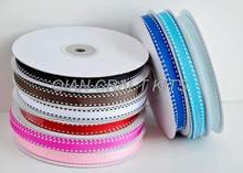 "100 yards 3/8 ""Pinzatura a sella Nastro Del Grosgrain colori misti 10mm(China)"