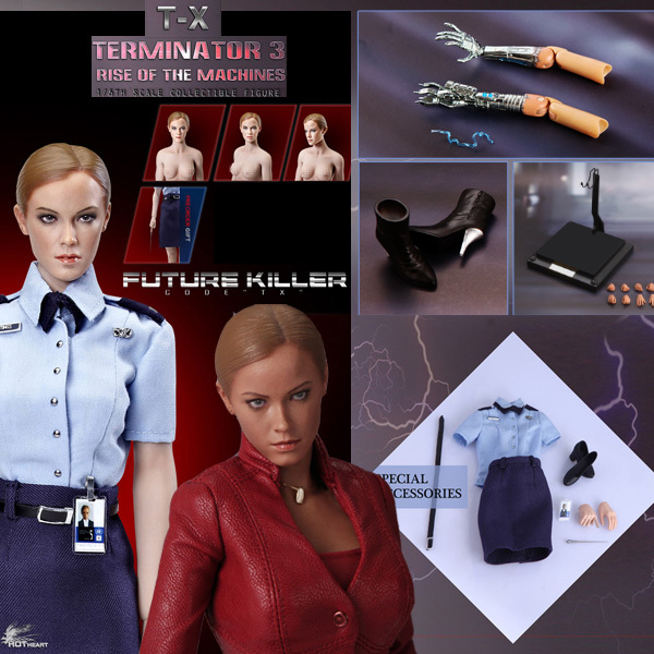Hot Heart FD002 1:6 Terminator Women Robot TX Villain Bad Robot T-X Plus Large Set In Stock
