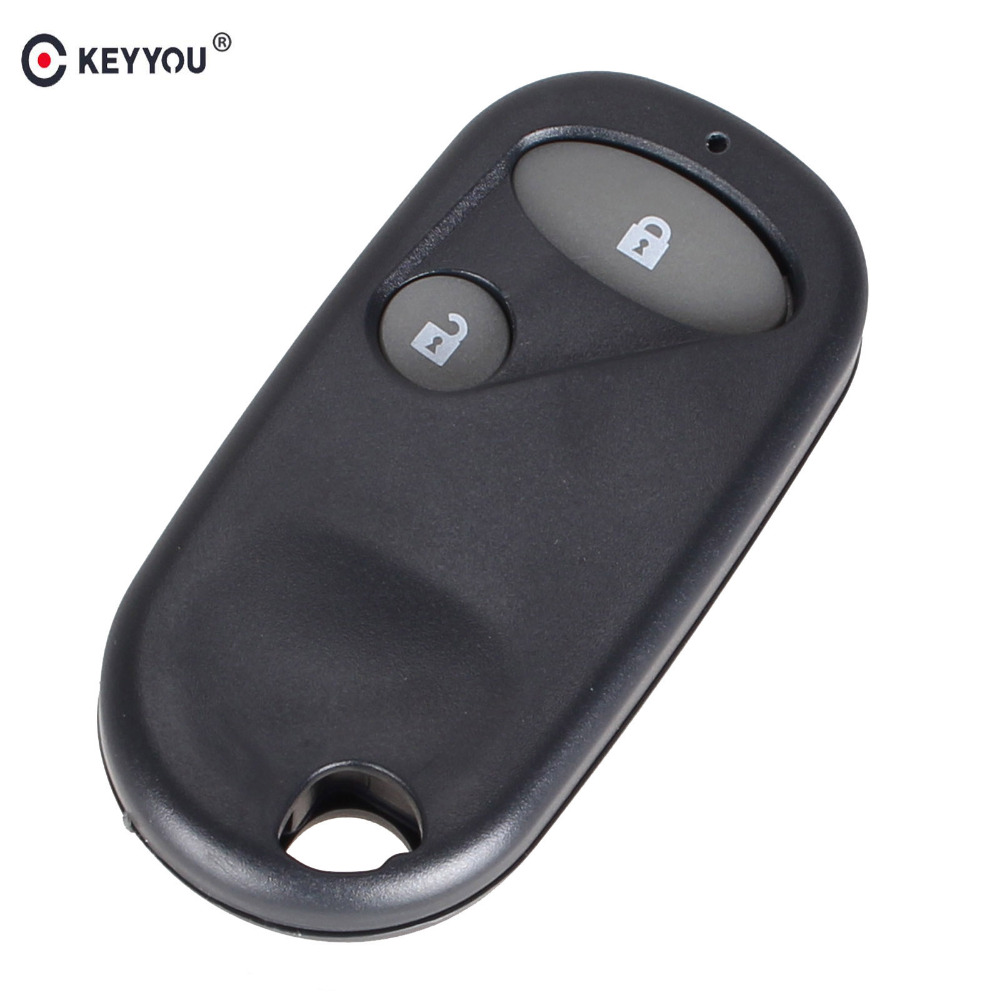KEYYOU Car style Remote Key Fob Case Shell 2 Buttons for Honda Civic CRV Accord Jazz dandkey 2 buttons remote key shell fit for honda accord civic crv pilot fit replacement fob 2 btn key case