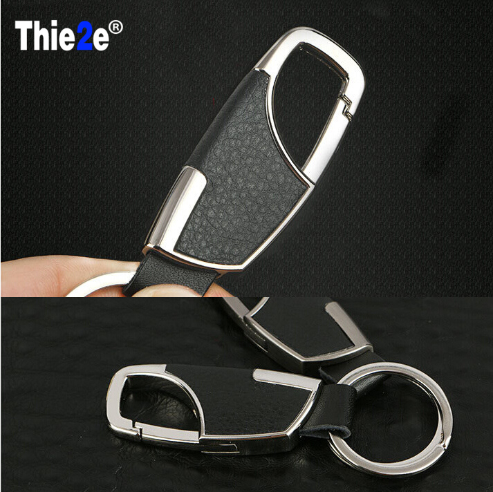 car styling Metal Head layer cowhide keyChain for SEAT Ibiza Leon Toledo Arosa Alhambra Exeo FR Supercopa Mii Altea Cordoba