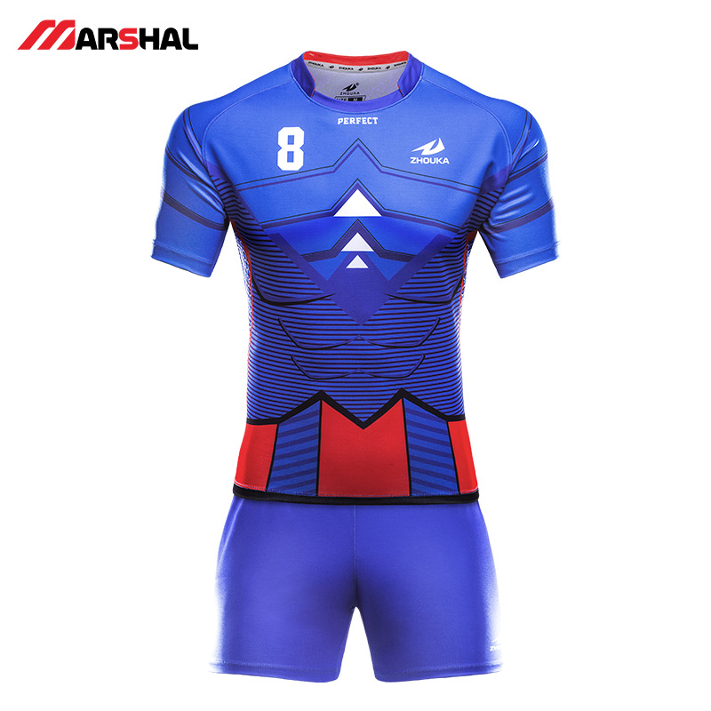 Hot sale High Quality Kids short sleeve Full sublimation Rugby jerseys customized rugby jersey for adult or