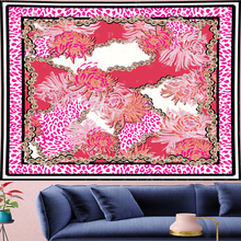 Pink Leopard macrame Tapestry boho decor Vintage Tapestries Retro chain flower Wall Hanging home