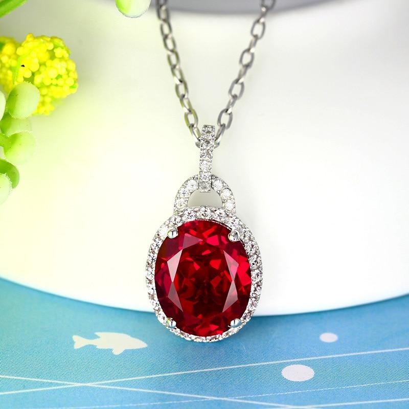 S925 sterling silver pendants for women 2017 NEW luxury Ruby pendant YY Fine jewelry bands qq yy