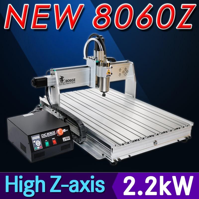 Router di CNC 8060Z 2200 W VFD mandrino raffreddato ad acqua macchina - Attrezzature per la lavorazione del legno - Fotografia 3